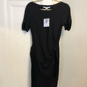Diane Von Furstenberg DVF Black Silk Dress size 10